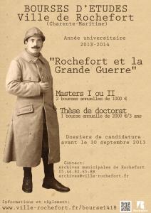 Bourses de recherche 1914-1918 de la ville de Rochefort