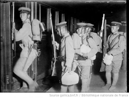 Soldats Japonais en 1918 (Source : Gallica)
