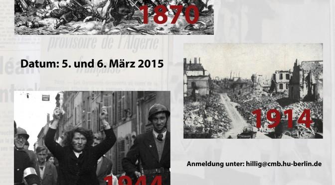 Colloque à Berlin : Espaces de violence d'une région transfrontalière :  la Lorraine entre 1870 et 1962